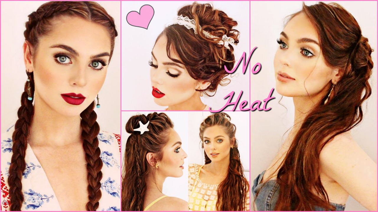 Healthy Hair Styles: Unique NO HEAT Hairstyles & My Healthy Hair Tips 2016