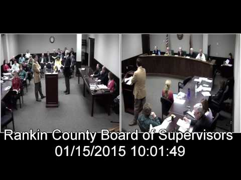 [1 of 2] Rankin County, MS Board of Supervisors meeting on date: 1/15/2015