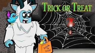 Roblox / Trick or Treat in Hallowsville / Yeti Costume and Spider Quest! / Gamer Chad Plays