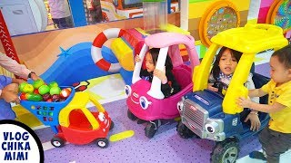 Bermain Naik Mobil Odong Odong Kecil di Taman Bermain Anak Funland Kidzilla