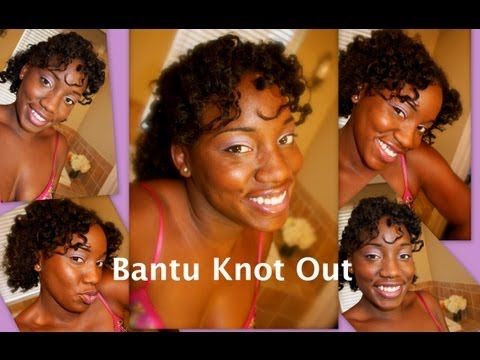 Bantu Knot Out On Wet Hair Curls Products