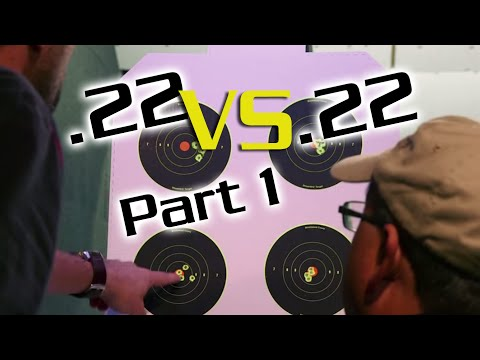 .22 Air Rifle vs .22 Rimfire Part1 Indoors 25 yards : American Airgunner