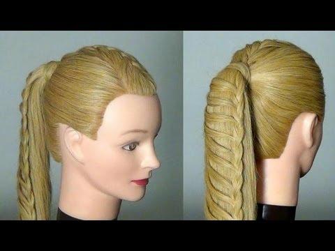 Прически с простым плетением для длинных волос