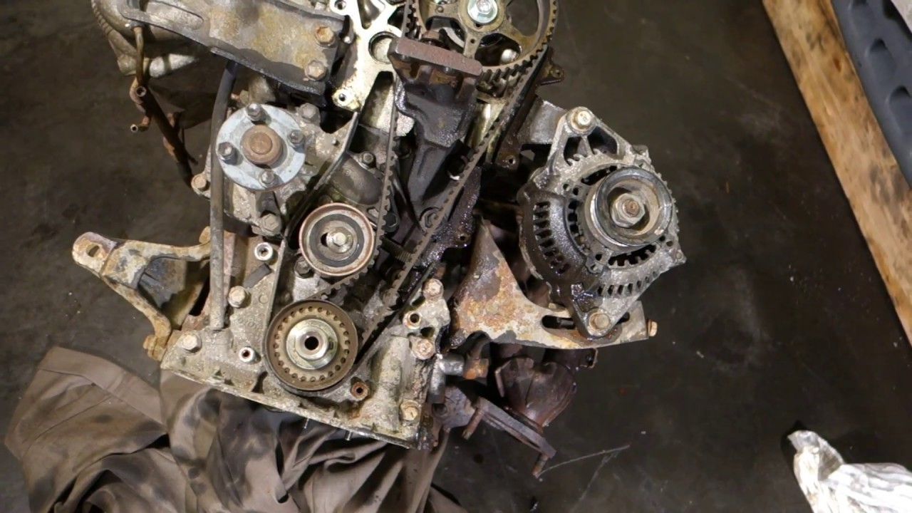 how to replace water pump toyota corolla years 1990 to 2002 [ 1280 x 720 Pixel ]