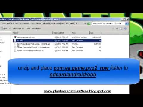 Tutorial How To Install Plants Vs Zombies 2 APK Android Phone Tablet 100% Working Free   YouTube