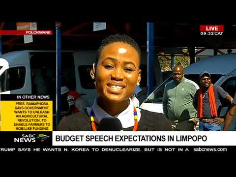 Budget Speech 2019 expectations in Limpopo