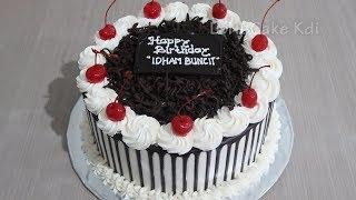 Kue Ulang Tahun Coklat 🎂 Dekorasi Kue Ultah Cake Tart Sederhana by LeNsCake Kdi