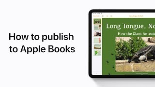 How to publish to Apple Books from Pages on iPhone, iPad, and iPod touch — Apple Support