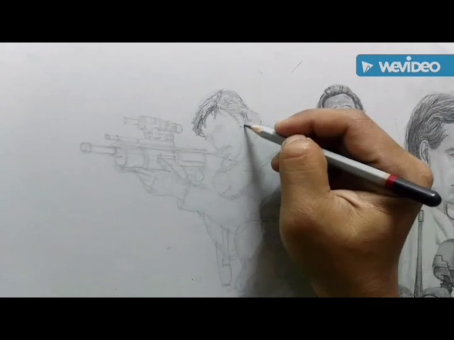 Cassian Andor : Rouge One : Pencil Drawing