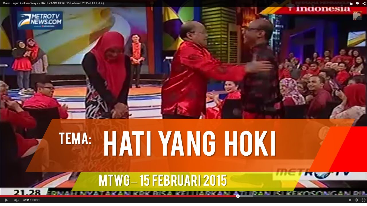 Mario Teguh Golden Ways - HATI YANG HOKI 15 Februari 2015 (FULL) HQ