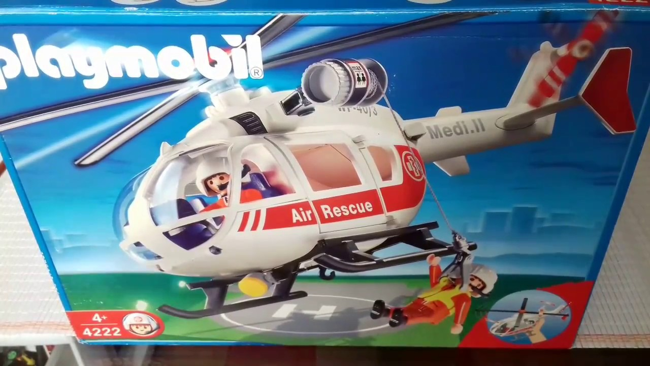 Helic ptero playmobil nuevo vs 70s vintage unboxing youtube for Helicoptero playmobil