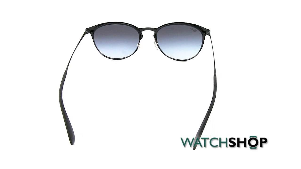 7875d07d83a Ray-Ban Erika Metal Sunglasses (RB3539-002 8G-54) - YouTube