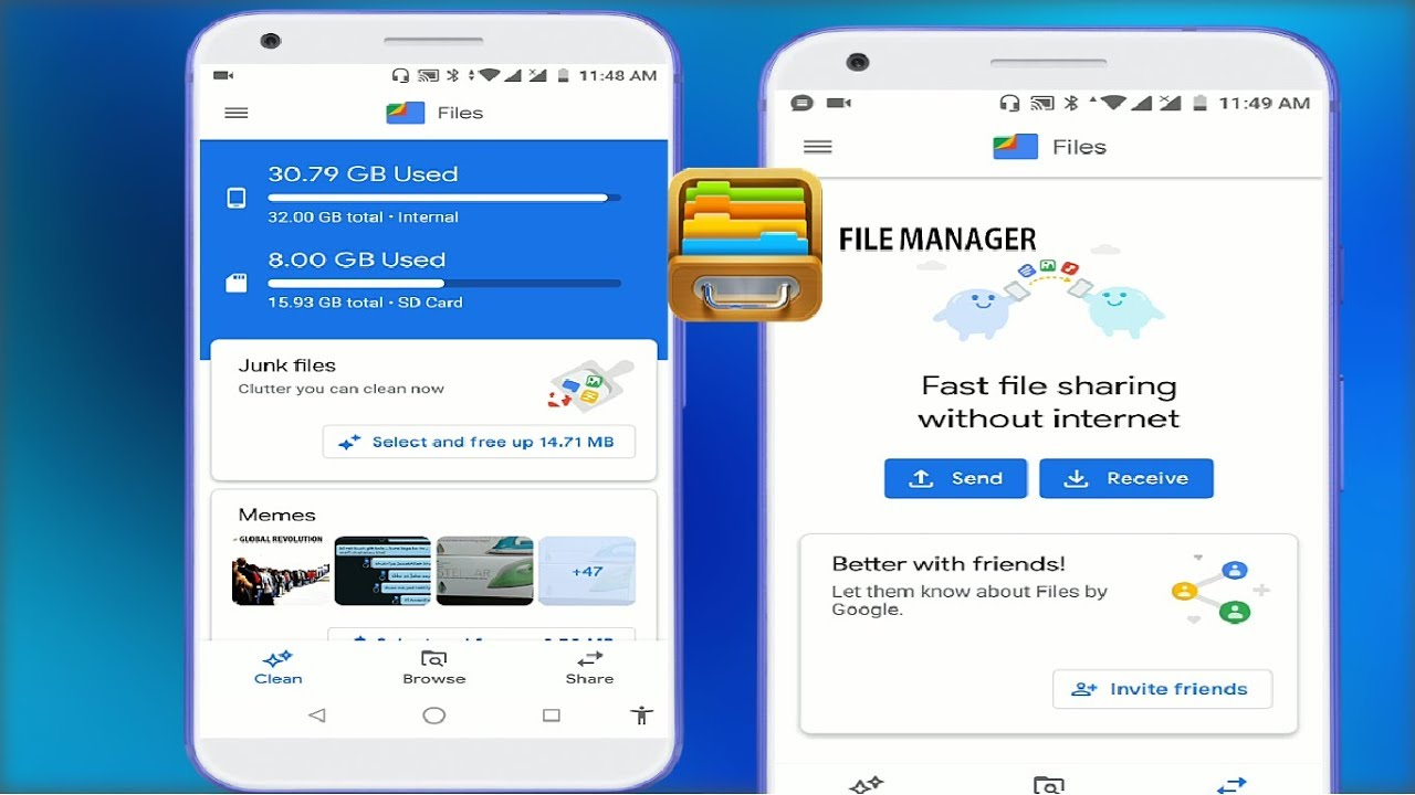 New & Best File Manager App for Android Users Send or Receive Files Fast