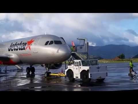 Queenstown airport Jetstar A320 departure