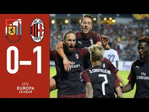Dudelange 0-1 AC Milan - Highlights Europa League Group F Matchday 1