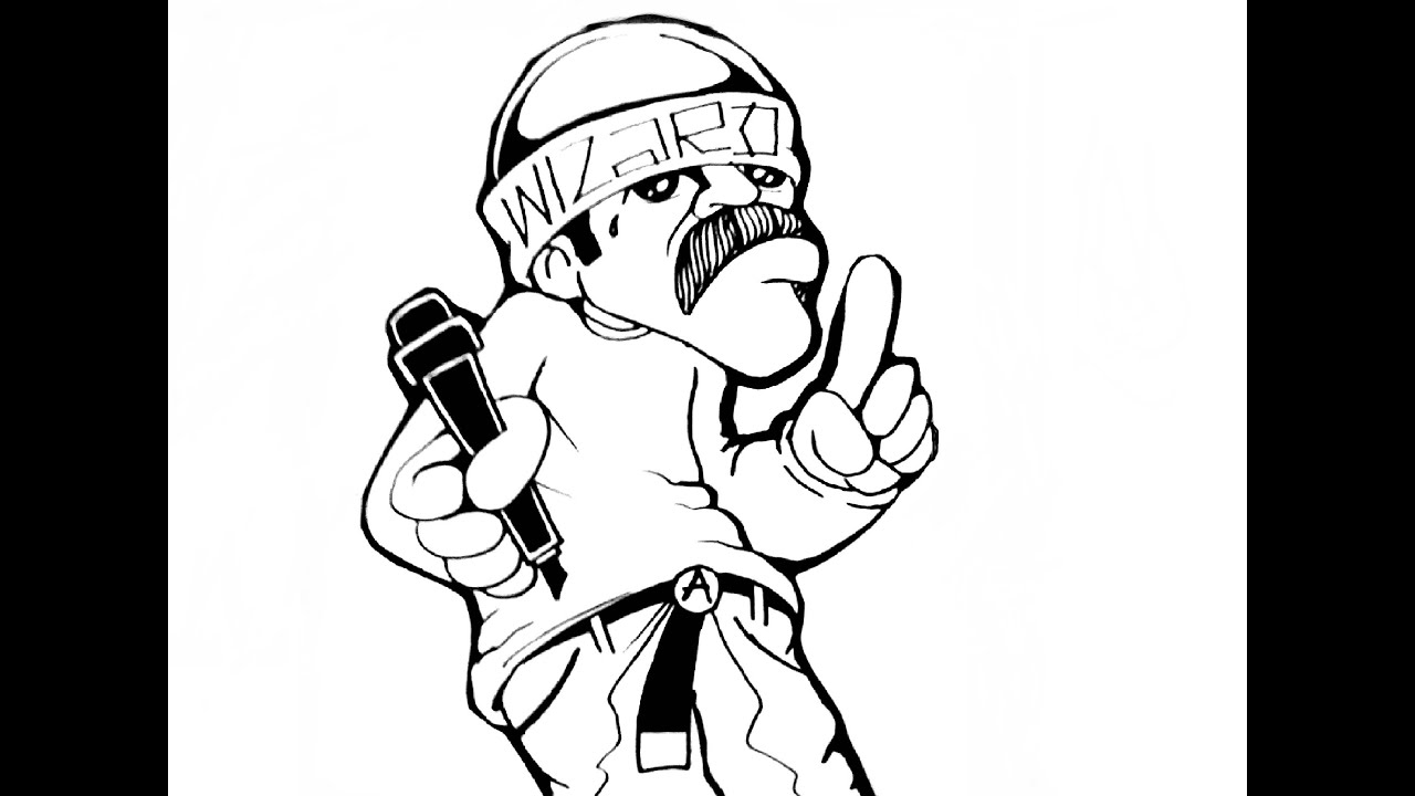 Gangster Clown Coloring Coloring Pages