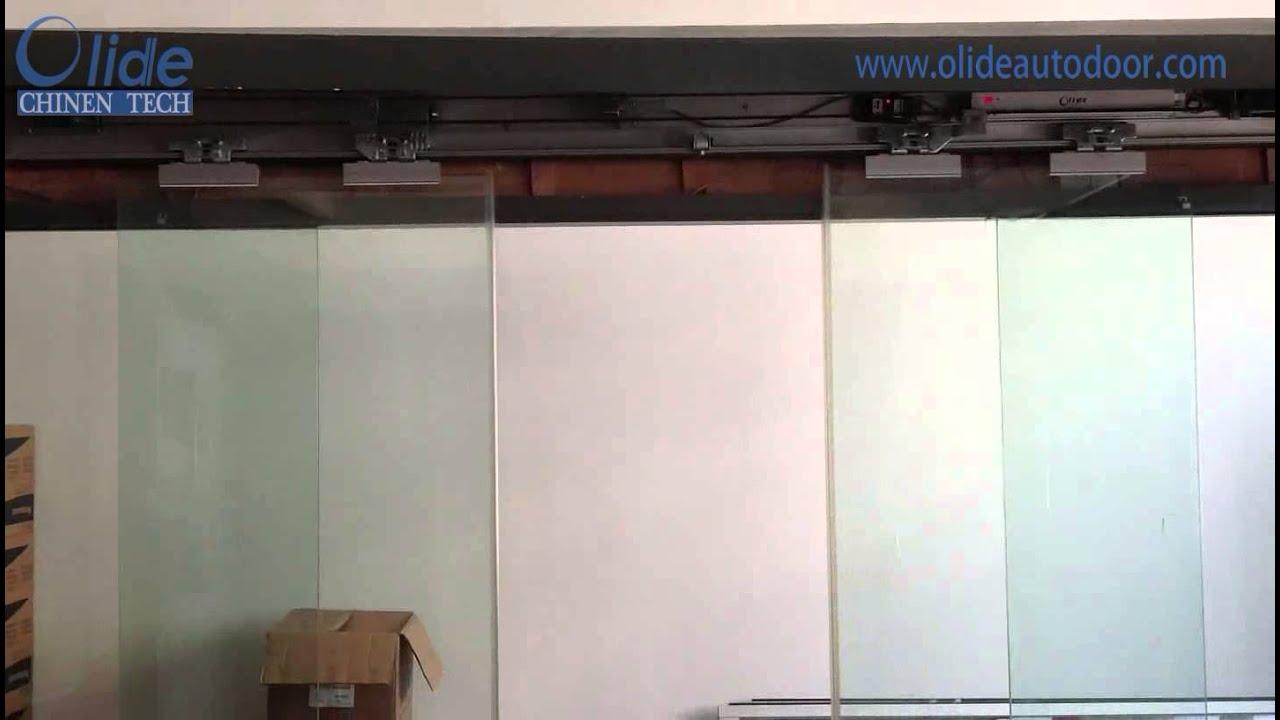 Automatic Glass Door Electric Bi Parting Sliding Glass