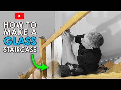 How To Build A Glass Staircase Staircase Renovation Project | Wood And Glass Banister | Grey | Before And After | Rustic Glass Interior | Concrete Stairs Wooden Glass | Acrylic