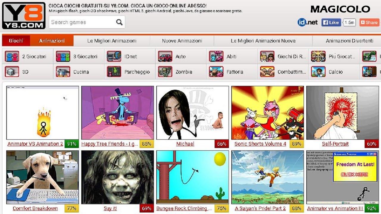 Y8 GIOCHI GRATIS - Ogni giorno un nuovo gioco su y8.com ...