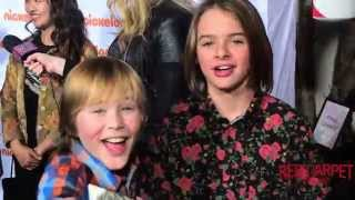 Casey Simpson & Mace Coronel at Nickelodeon's #HoHoHoliday Special Screening Event #NickelodeonTV