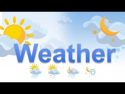 Как будет по английски погода