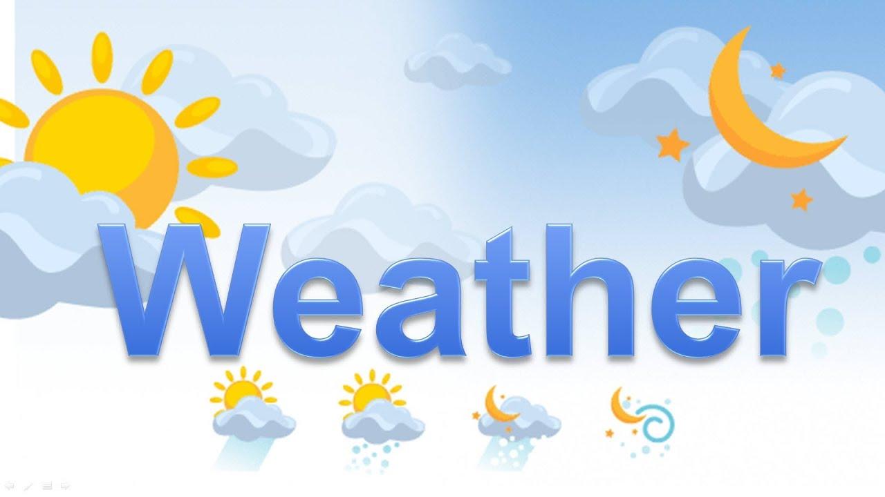 Погода на английском языке - YouTube