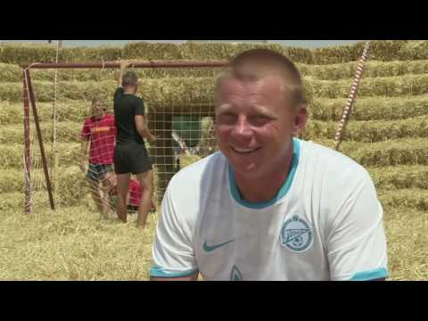 Straw Football is played in Russia