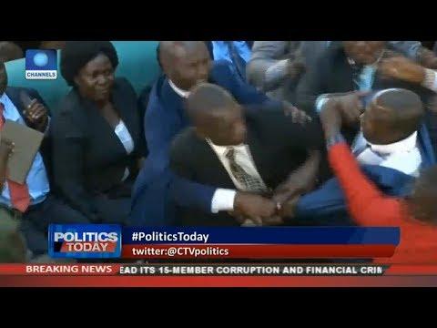 Lawmakers Brawl In Uganda Over 'Life Presidency' Bill |Politics Today|