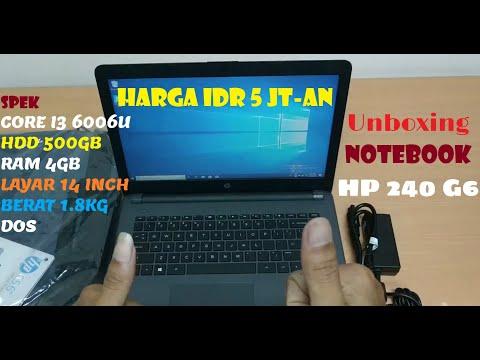 Unboxing Notebook HP 240 G6 - Notebook Intel Core I3 Level Murah