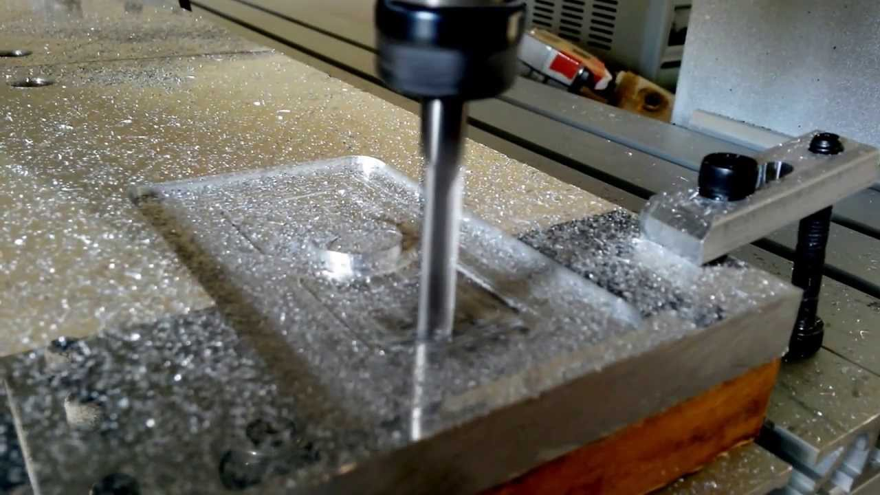 Cutting Aluminum With 3 Axis Cnc 6040 Router Engraver Drilling And Milling Machine