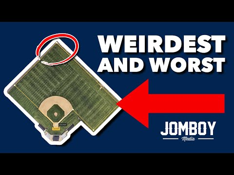 Critiquing the WEIRDEST and WORST Baseball Fields - feat. Jomboy Media