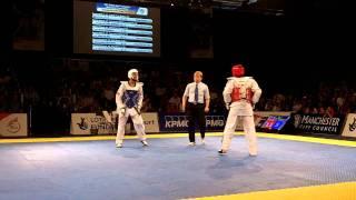 Aaron Cook (GB) v Craig Brown (GB) -80KG Final Taekwondo