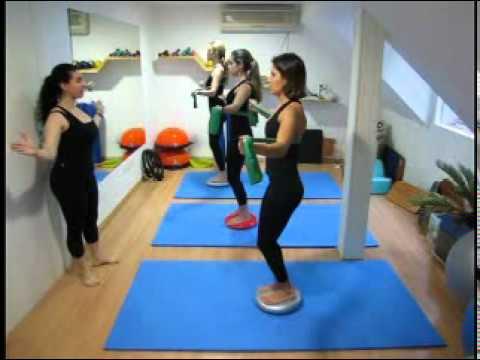 Aula de Pilates Solo na Clinica Venere