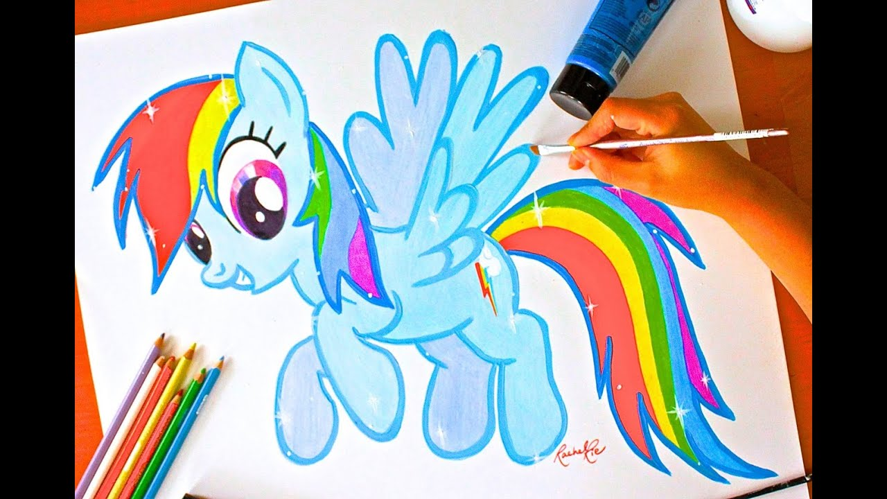 How to draw a Rainbow pony