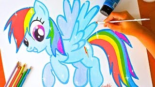 Drawing: RAINBOW DASH | My Little Pony | EASY & BUDGET