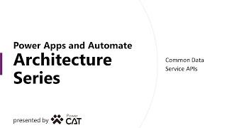 Common Data Service APIs