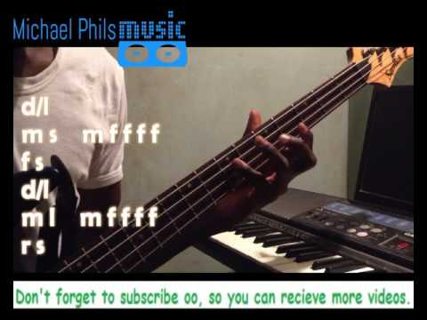 Makossa/ Soukous bass line lick/pattern for gospel praise 102