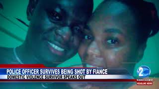 POLICE OFFICER SURVIVES BEING SHOT BY FIANCE