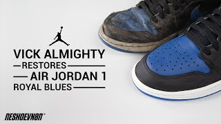 Vick Almighty #RESTORES Air Jordan 1 Royal Blues using #RESHOEVN8R