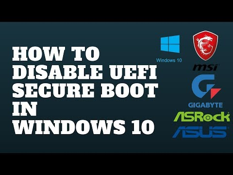 How to Disable UEFI Secure Boot in Windows 10