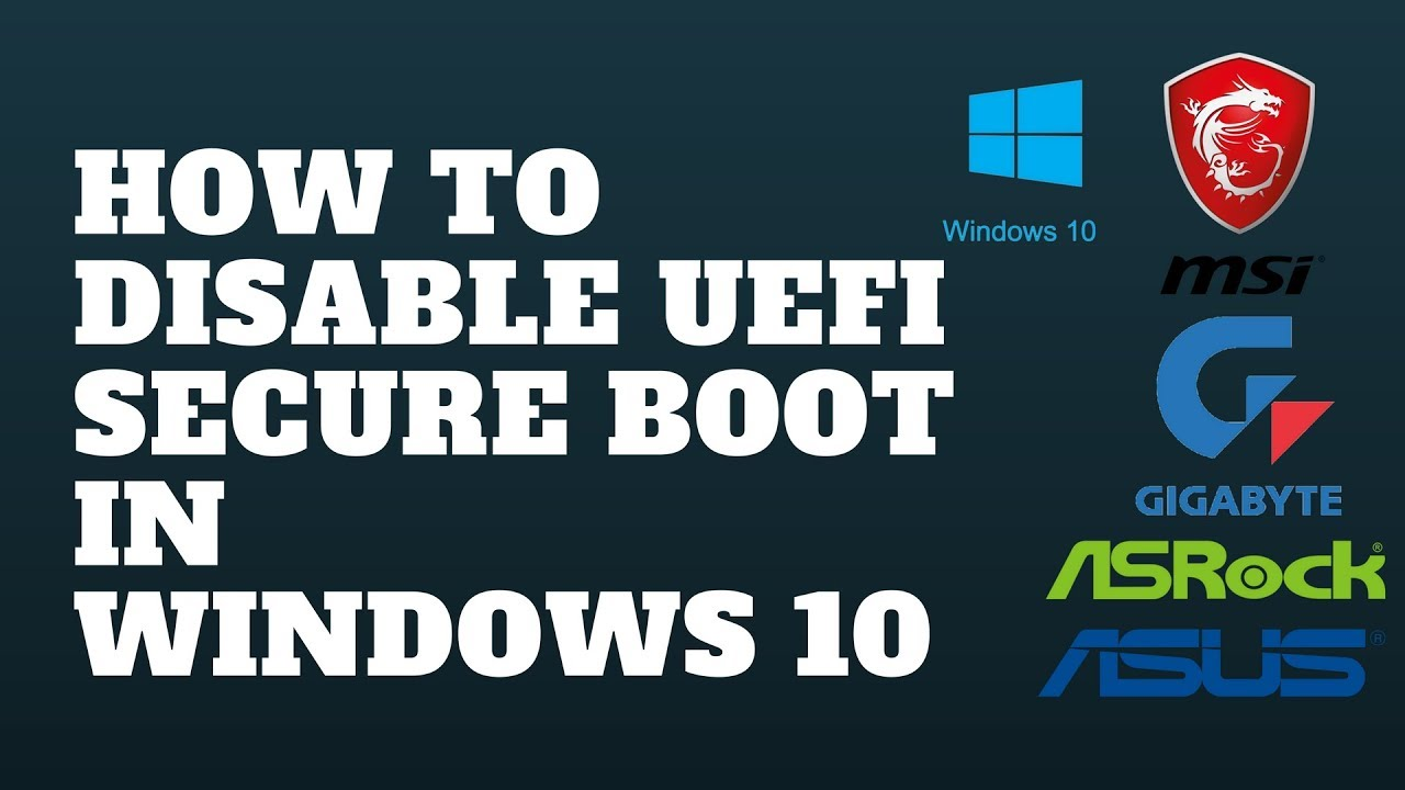 how to disable secure boot in bios fujitsu