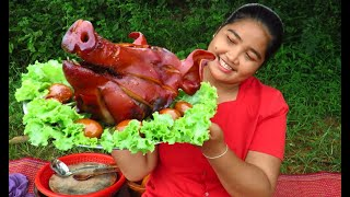 Yummy Cooking head pork recipe & My Cooking skill