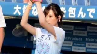 大原櫻子、青天の神宮で初始球式「今日の投球は70点!」 2015年7月10日 ...