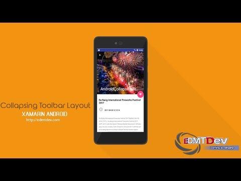 Xamarin Android Tutorial - Collapsing Toolbar Layout