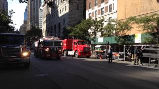 FDNY ENGINE 54 RESPONDING ON AMSTERDAM AVE. & W. 75TH ST. ON THE WEST SIDE OF MANHATTAN, NEW YORK.