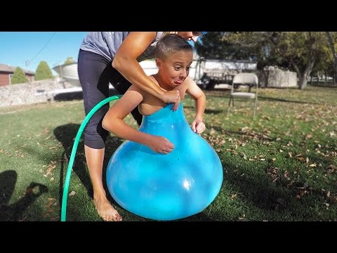 Thumbnail: FITTING INSIDE A GIANT WATER BALLOON!!