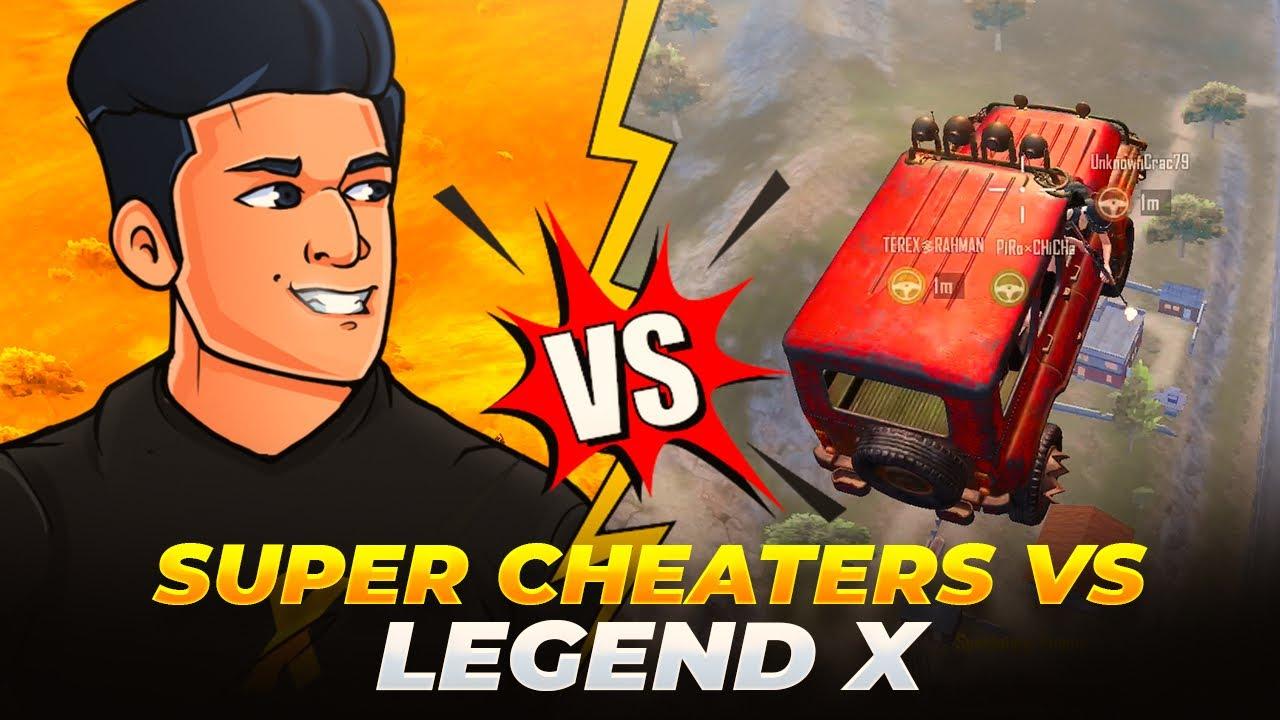 😤 Super Cheaters vs Legend X - Pubg Mobile India - Legend X