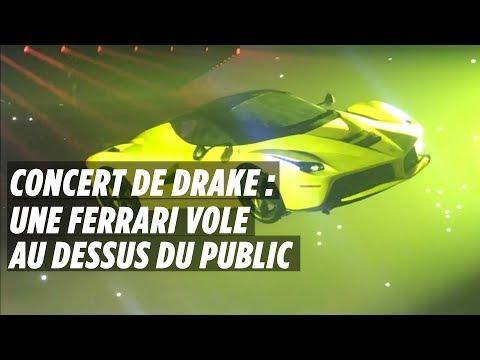 Concert de Drake à Paris : une Ferrari vole au-dessus du public
