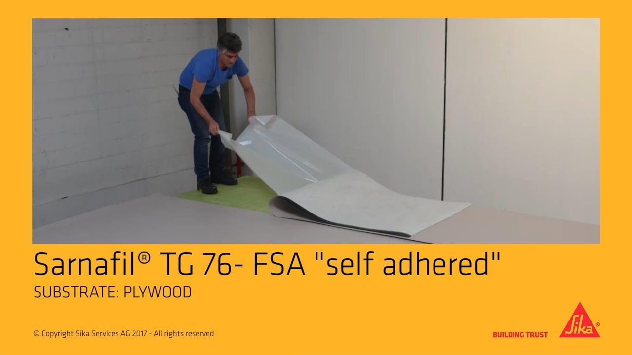 Sarnafil 174 Tg 76 Fsa Quot Felt Self Adhered Quot Youtube