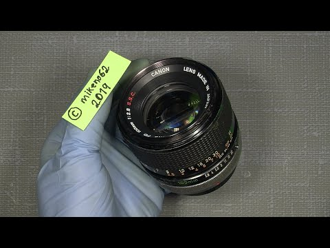 Working With The Aperture System In Canon FD 100mm 1:2.8 S.S.C.